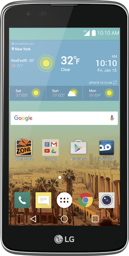Boost Mobile - LG Tribute 5 No-Contract Cell Phone - Black