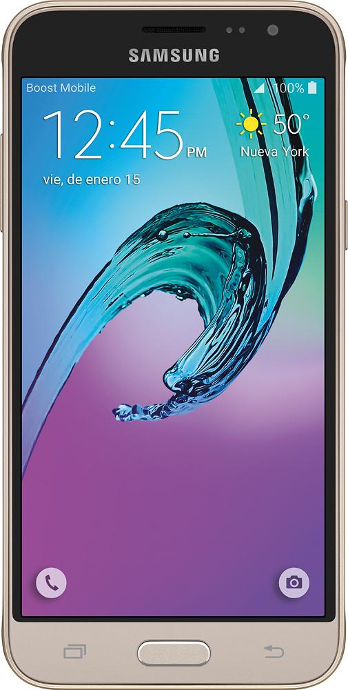 Boost Mobile - Samsung Galaxy J3 Prepaid Cell Phone - Gold