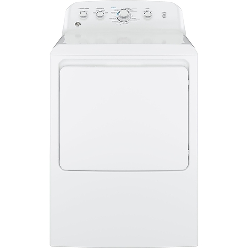 GE - 6.2 Cu. Ft. 4-Cycle Electric Dryer - White