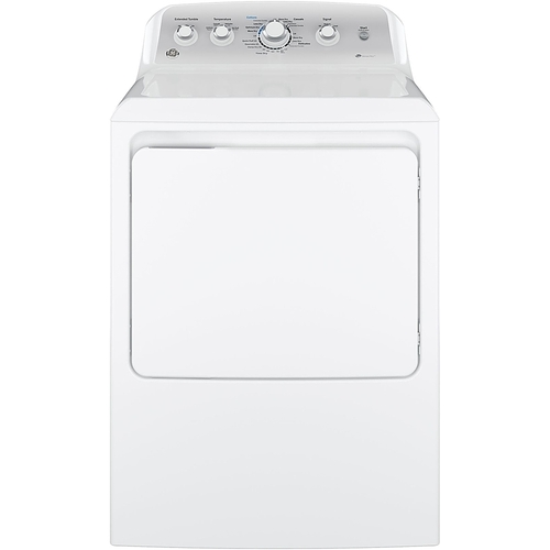 GE - 7.2 Cu. Ft. 4-Cycle High-Efficiency Electric Dryer - White
