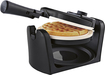Oster - DuraCeramic Flip Waffle Maker - Charcoal