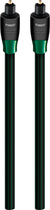 AudioQuest - OptiLink Forest 26.2' In-Wall Optical Cable - Black/Green