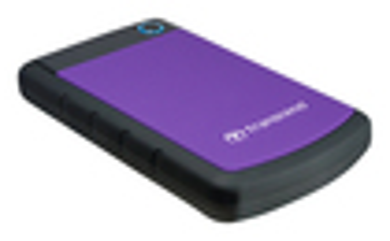 Transcend - StoreJet Rugged Series SJ25H2P External 1TB USB 2.0 Portable Hard Drive - Purple/Black