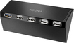 Insignia - 5-port Usb Hub For Playstation 4 - Black