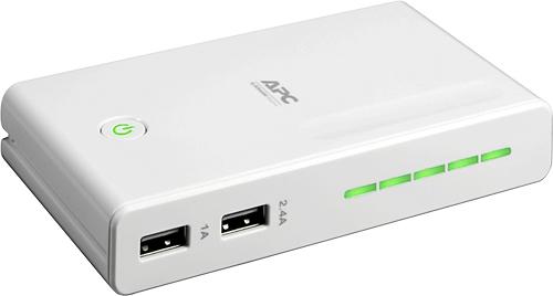 APC - Mobile Power Pack for APC BGE50ML Network UPS - White