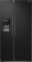 Samsung - 24.5 Cu. Ft. Side-by-Side Refrigerator with Thru-the-Door Ice and Water - Black