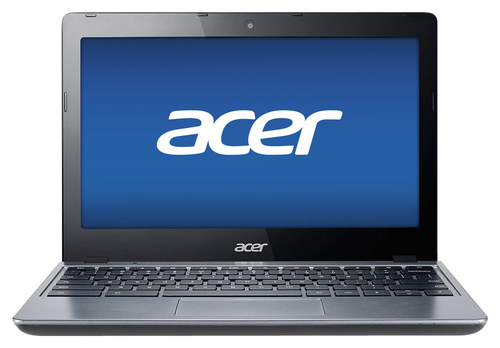 Acer - 11.6 Chromebook - Intel Celeron - 2GB Memory - 16GB Solid State Drive - Granite Gray