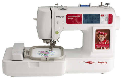 Brother Simplicity Sewing and Embroidery Machine White SB7050E