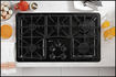 "GE - Profile 36"" Built-In Gas Cooktop - Black"