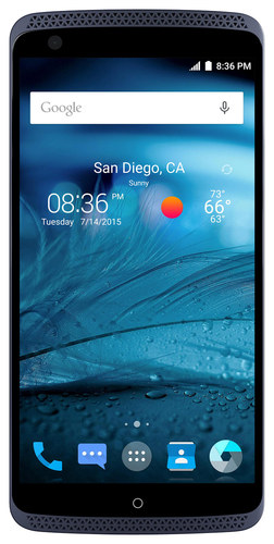 ZTE - Axon 4G with 32GB Memory Cell Phone (Unlocked) - Phthalo Blue