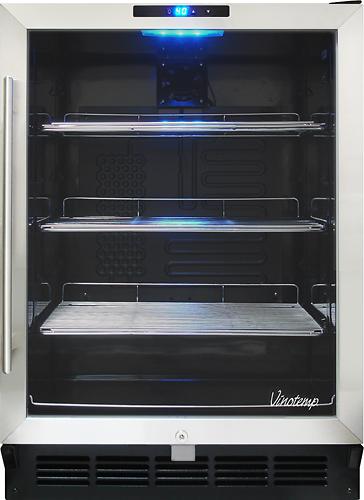 Vinotemp - VT-58 Series 135-Can Beverage Refrigerator - Black