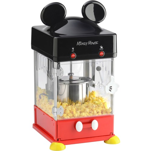 Disney - Classic Mickey Kettle Popcorn Popper - Black, Stainless Steel