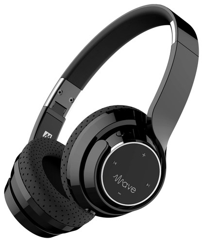 MEE audio - Wave Wireless On-Ear Headphones - Black