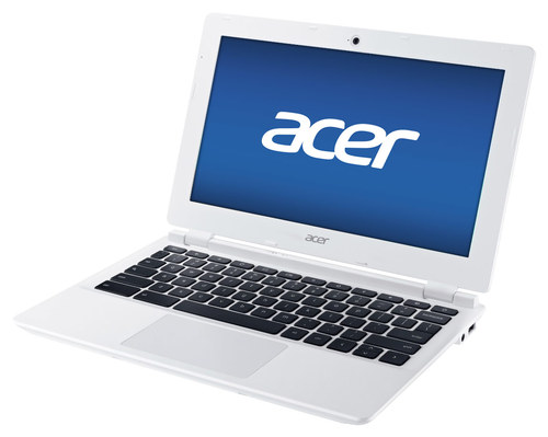 Acer - 11.6 Refurbished Chromebook - Intel Celeron - 2GB Memory - 16GB Solid State Drive - White