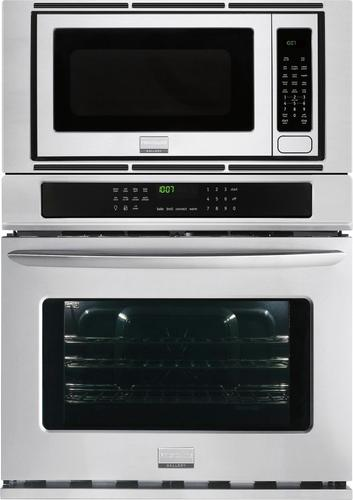 Frigidaire - Gallery 30 Single Electric Convection Wall Oven with Built-In Microwave - Stainless Steel