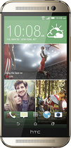HTC - One (M8) 4G LTE Cell Phone with 32GB Memory - Amber Gold (Sprint)
