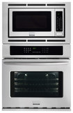 "Frigidaire - Gallery 27"" Single Electric Convection Wall Oven with Built-In Microwave - Stainless-Steel"