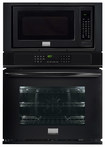 """Frigidaire - Gallery 27"""" Single Electric Convection Wall Oven with Built-In Microwave - Black"""