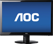 "AOC - 27"" Widescreen Flat-Panel LED HD Monitor - Black"