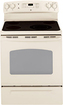 "GE - 30"" Self-Cleaning Freestanding Electric Range - Bisque-on-Bisque"