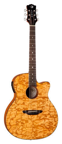 Luna - Gypsy Quilt 6-String Acoustic/Electric Guitar - Natural