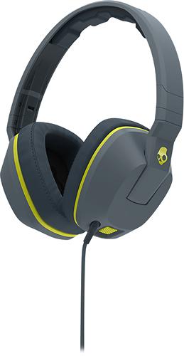 Skullcandy - Crusher Over-the-Ear Headphones - Gray/Lime