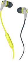 Skullcandy - Ink'd 2 Earbud Headphones - Gray/Lime