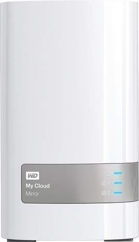 WD - My Cloud Mirror 8TB External Hard Drive (NAS) (2nd Generation) - White