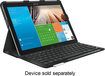 Logitech - PRO Keyboard Case for Samsung Galaxy Note Pro 12.2 and Galaxy Tab Pro 12.2 - Black