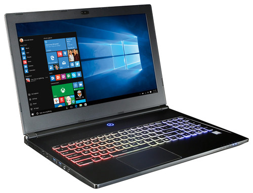 CybertronPC - Vapor 15 SK-X1 15.6 4K Ultra HD Laptop - Intel Core i7 - 16GB Memory - 1TB Hard Drive + 128GB Solid State Drive - Black