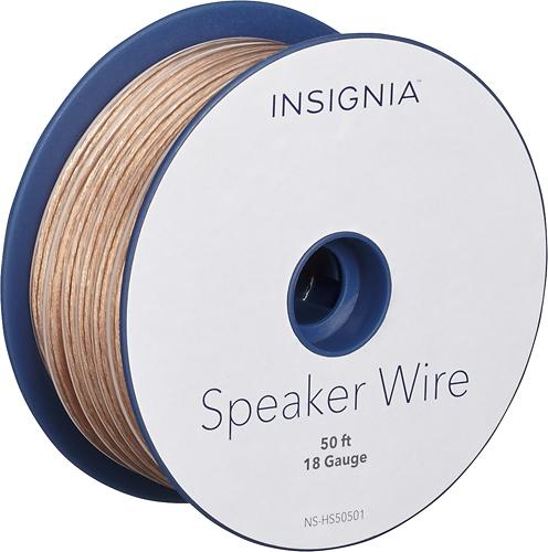Insignia™ - 50' Speaker Wire - Clear