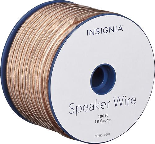 Insignia™ - 100' Speaker Wire - Clear