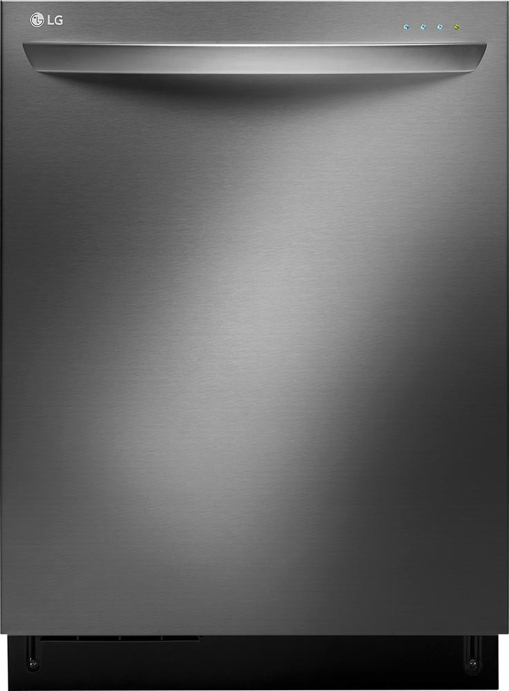 "LG - SteamDishwasher 24"" Tall Tub Built-In Dishwasher - Black Stainless-Steel"