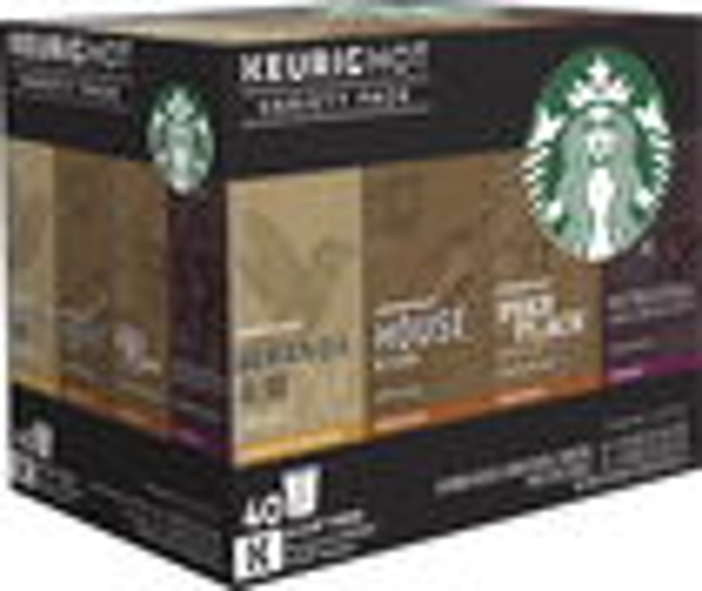 Keurig - Starbucks Variety Pack K-cup® Pods (40-pack) 4759300