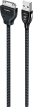 Audioquest - Carbon 16.4' Usb A-to-apple Ipod /ipad Cable - Black/gray