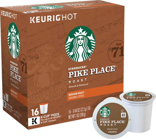 Keurig - Starbucks Pike Place Coffee K-Cups (16-Pack) - Brown