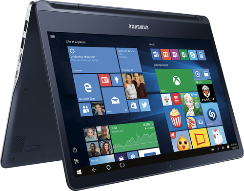 Samsung - Geek Squad Certified Refurbished Ativ Book 9 Spin 13.3 Touch-Screen Laptop - Intel Core i7 - 8GB Memory - 256GB SSD - Pure Black