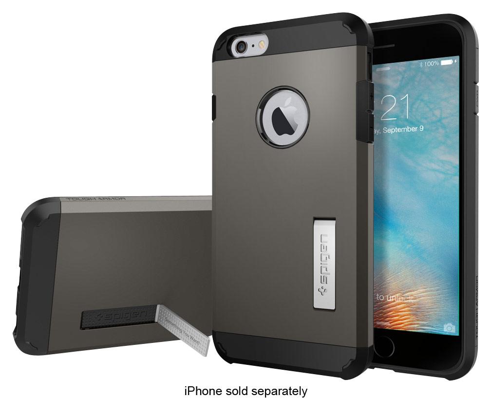 Spigen - Tough Armor Case for Apple® iPhone® 6 Plus & 6s Plus - Gunmetal (Grey)