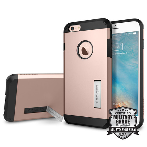 Spigen - Tough Armor Case for Apple® iPhone® 6 Plus and 6s Plus - Rose Gold