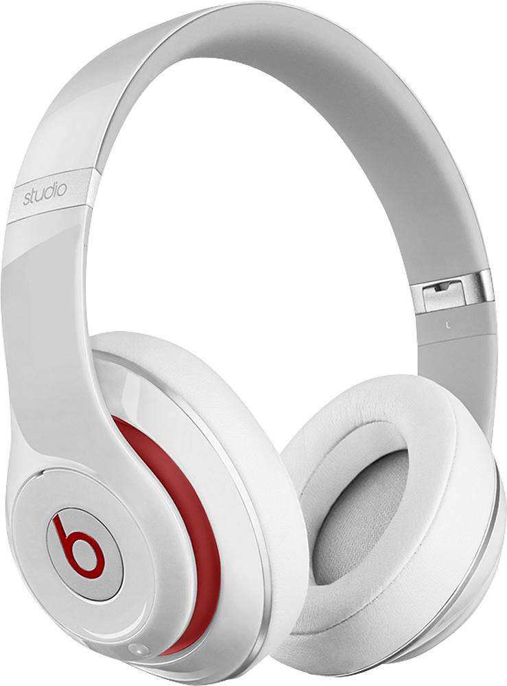 Beats By Dr. Dre - Geek Squad Certified Refurbished Beats Studio Wireless On-ear Headphones - White