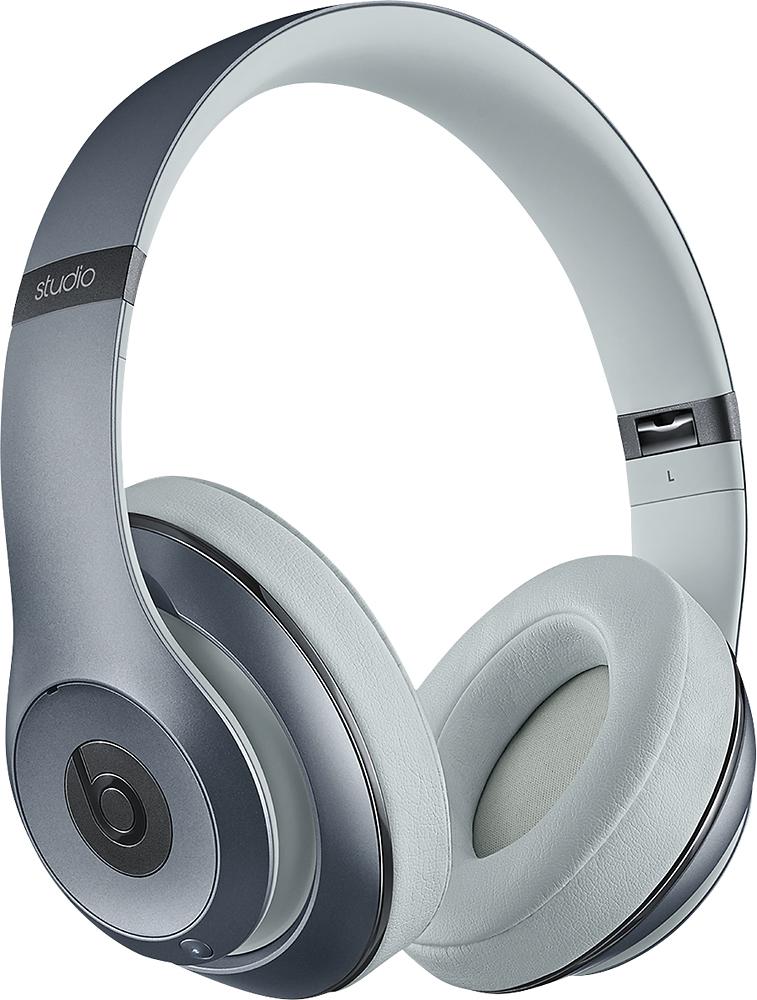 Beats By Dr. Dre - Geek Squad Certified Refurbished Beats Studio Wireless Over-the-ear Headphones - Metallic Sky