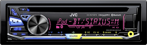 JVC - CD - Built-in Bluetooth - Apple® iPod®- and Satellite-Radio-Ready - In-Dash Deck - Black
