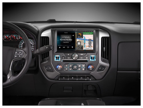 Alpine - 10 - Built-In GPS - CD/DVD - Built-In Bluetooth - Built-In HD Radio - Apple® iPod®-Ready - In-Dash Deck - Black