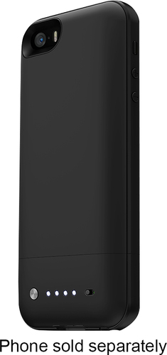 mophie - space pack 32GB External Battery Case for Apple® iPhone® SE, 5s and 5 - Black