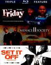 Friday/menace Ii Society/set It Off [3 Discs] [blu-ray] 4775403