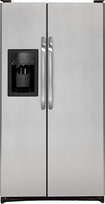 GE - 25.3 Cu. Ft. Side-by-Side Refrigerator with Thru-the-Door Ice and Water - CleanSteel