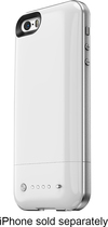 mophie - space pack 32GB External Battery Case for Apple® iPhone® 5 and 5s - White
