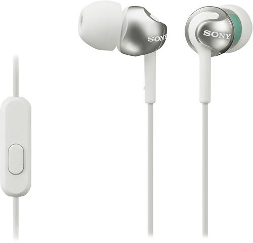 Sony - Step-Up EX Series Earbud Headphones - White