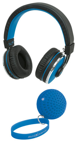 Sound Science - Cosmos Over-the-Ear Studio Wireless Headphones - Blue