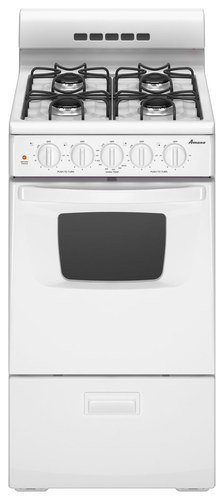 Amana - 20 Freestanding Gas Range - White